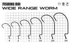 Крючки FR Wide range worm №1/0 (уп8шт)