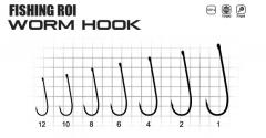 Крючки FR Worm hook №6 (уп10шт)