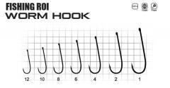 Крючки FR Worm hook №8 (уп10шт)