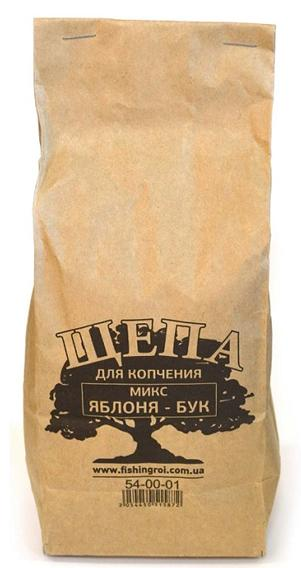 Щепа для копчения Микс Яблоня-Бук 1л