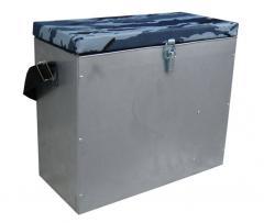 Ящик рыбацкий с ремнем и перегородкой (оцинковка)