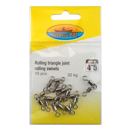 Двойной Вертлюг Fishing ROI Rolling triangle joint rolling swivels 3*4