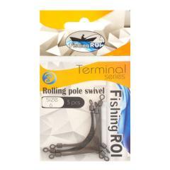 Противозакручиватель Fishing ROI Rolling pole swivel №10