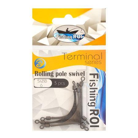 Противозакручиватель Fishing ROI Rolling pole swivel №6