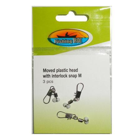 Крепление поплавка Fishing ROI Moved plastic head with interlock snap S