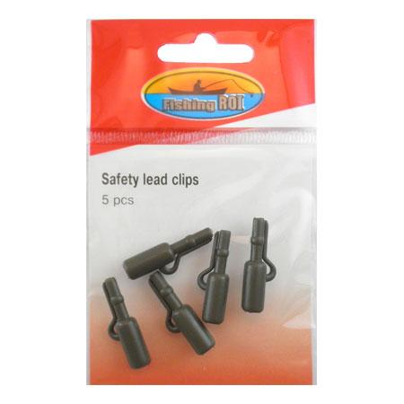 Безопасная клипса Fishing ROI Safety lead clips (green)