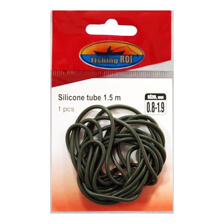 Трубка силиконовая Fishing ROI Elastic rubber tube d-0.5*1.8mm (green)