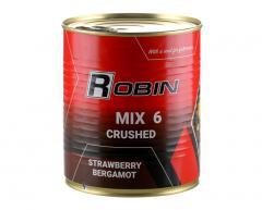 Зерновой микс MIX-6 дробленых зерен ROBIN 900ml ж/б Клубника-бергамот