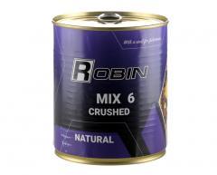 Зерновой микс MIX-6 дробленых зерен ROBIN 900ml ж/б Натуральна
