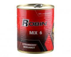 Зерновой микс MIX-6 зерен ROBIN 900ml ж/б Клубника-бергамот